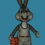 Représentation 3D texturée de Bugs Bunny